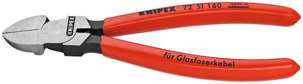 Knipex 7251160 Diagonal Cutter for fibre optics plastic coated 160 mm