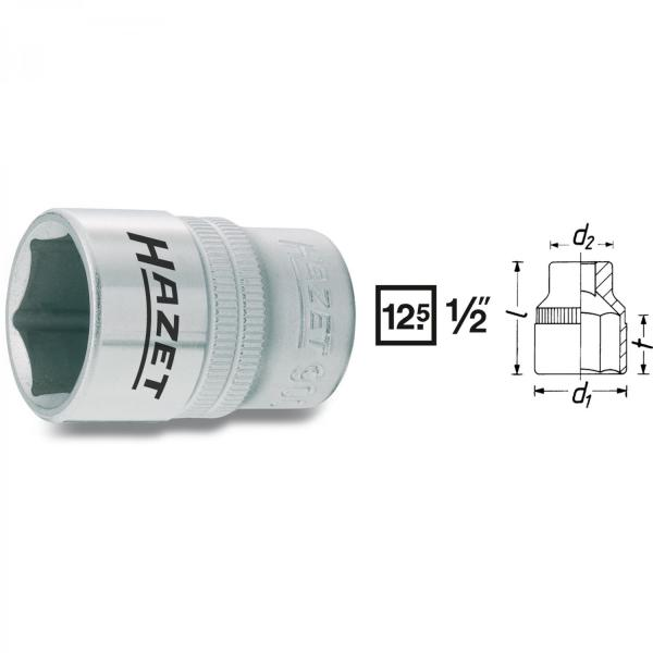 "Hazet 900-16 1/2"" drive 6-point socket"