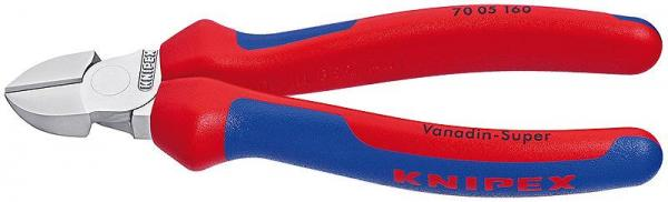 Knipex 7005180 Diagonal Cutter chrome plated with multi-component grips 180 mm