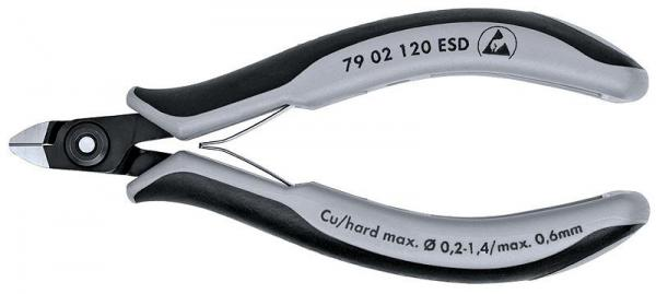 Knipex 7902120ESD Precision Electronics Side Cutter ESD burnished 120 mm