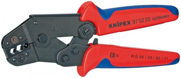 Knipex 975220 Crimping Pliers short design burnished with multi-component grips 195 mm