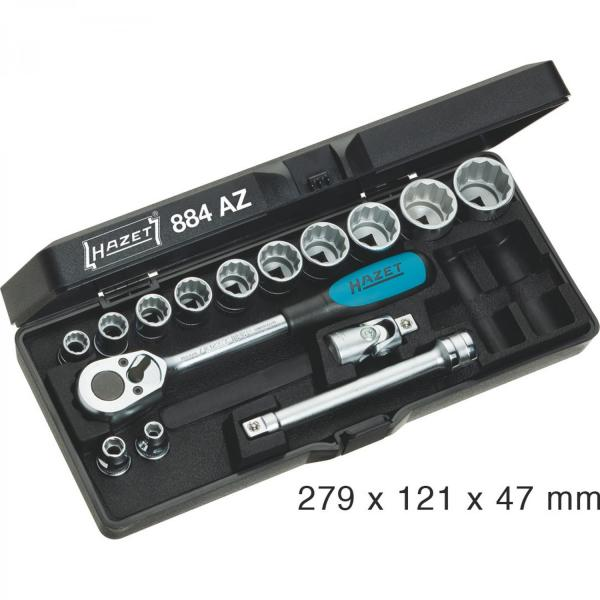 "Hazet 884AZ 3/8"" SAE Socket Set (12-Point) old version"