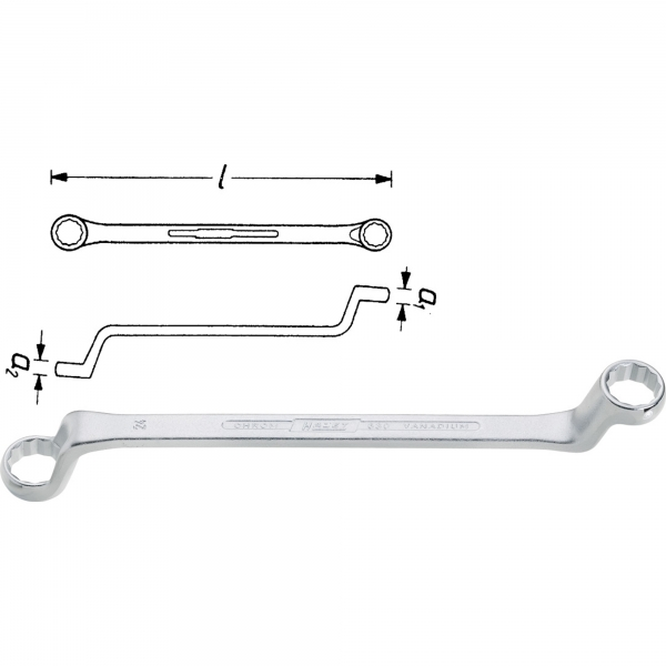 Hazet 630-25x28 Double Box-End Wrench