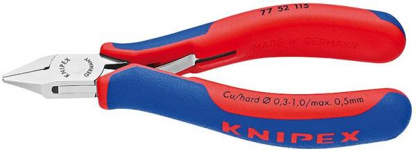 Knipex 7752115 Electronics Diagonal Cutter with multi-component grips 115 mm