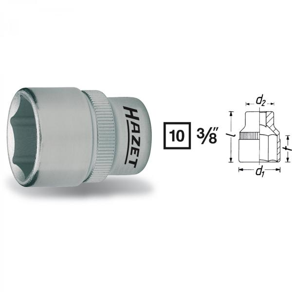 "Hazet 880-16 3/8"" drive 6-point socket"
