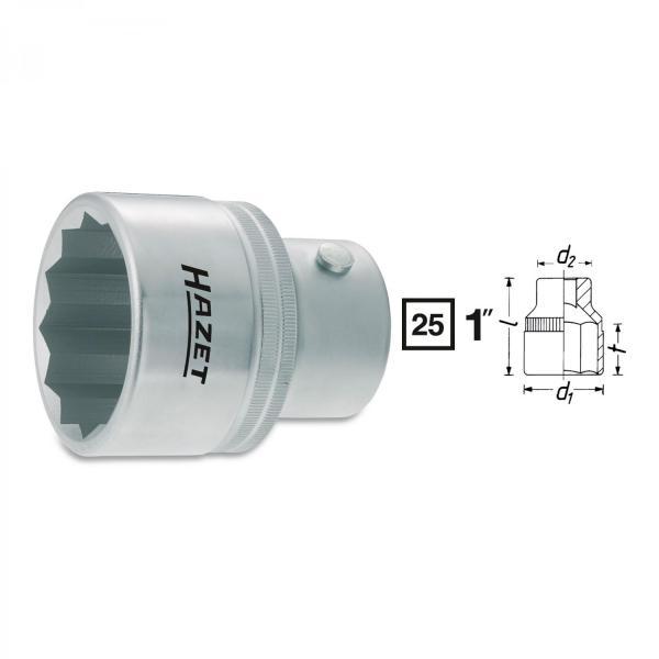 "Hazet 1100 1"" 12-point socket"