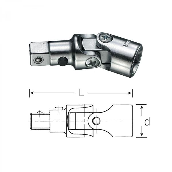 "Stahlwille 3/8"" swiveling universal joint 428QR with Quick Release"