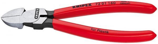 Knipex 7201160 Diagonal Cutter for plastics plastic coated 160 mm