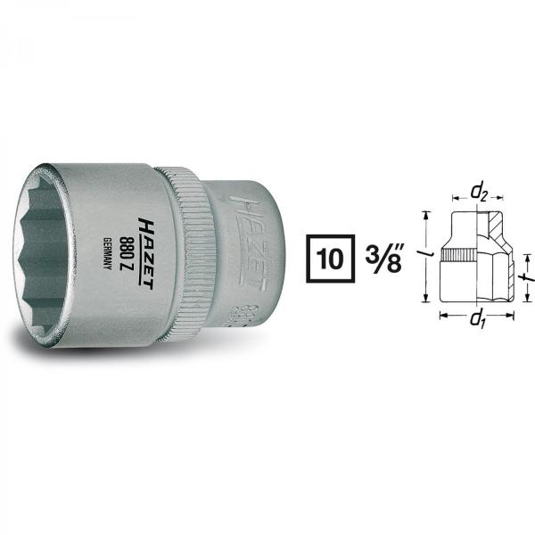 "Hazet 880AZ-5/8 3/8"" drive 12-point socket"