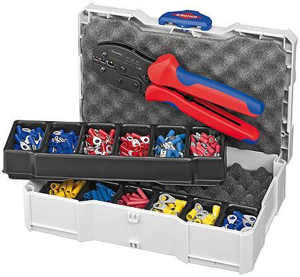 Knipex 97 90 21 Crimp Assortment with 975236 KNIPEX PreciForce® Crimping Pliers