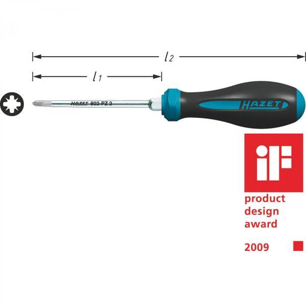 Hazet 802-PZ HEXAnamic® Pozidriv Screwdriver