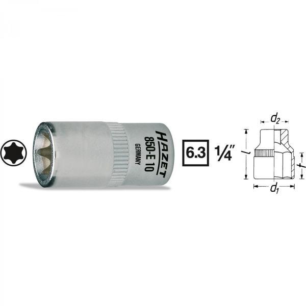 """Hazet 850-E10 1/4"""" TORX® Socket"""