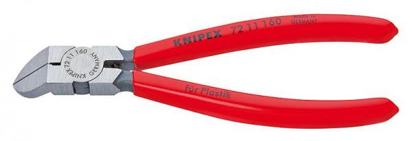 Knipex 7211160 Diagonal Cutter for plastics plastic coated 160 mm