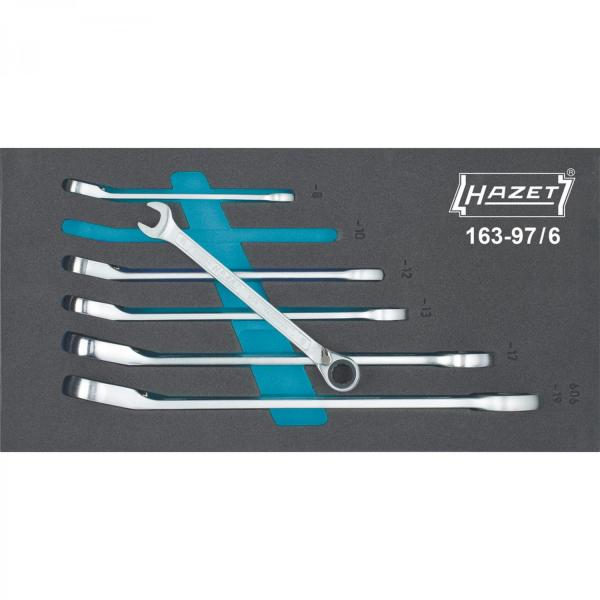 Hazet 163-97/6 606 Ratcheting Combination Wrench Set