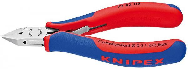 Knipex 7742130 Electronics Diagonal Cutter with multi-component grips 130 mm