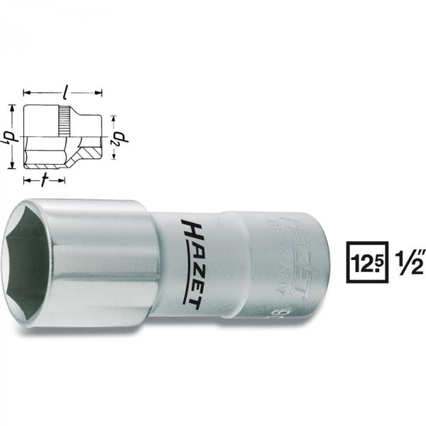 "Hazet 900 MGT 1/2"" drive Spark Plug Socket (6-Point)"