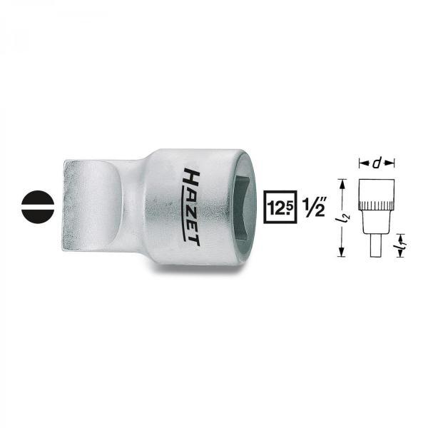 "Hazet 980-3x19 1/2"" drive flatblade screwdriver socket"