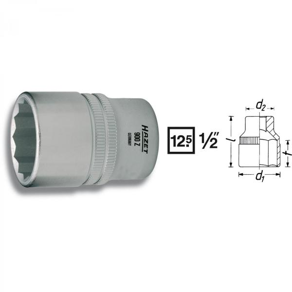 "Hazet 900AZ-19/32 1/2"" drive 12-point socket"