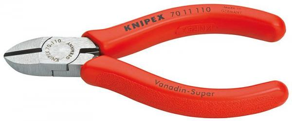 Knipex 7011110 Diagonal Cutter black atramentized plastic coated 110 mm