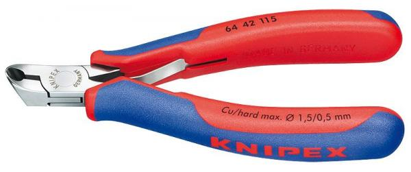 Knipex 6442115 Electronics End Cutting Nipper with multi-component grips 115 mm