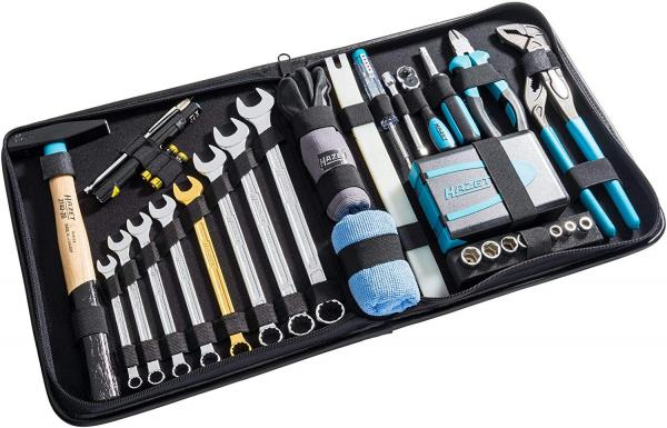 Hazet 1520/64 Premium tool leather case (incl. golden wrench)