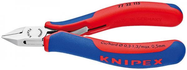 Knipex 7732115 Electronics Diagonal Cutter with multi-component grips 115 mm