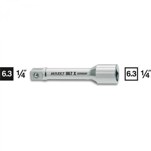 "Hazet 867X-2 1/4"" drive extension length 55mm (2"")"