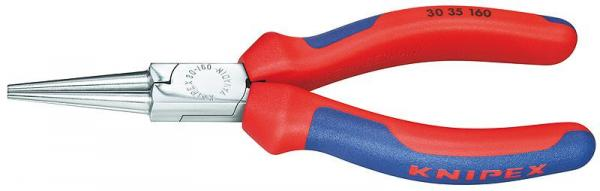 Knipex 3035160 Long Nose Pliers chrome plated with multi-component grips 160 mm
