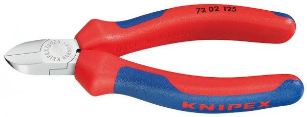 Knipex 7202125 Diagonal Cutter for plastics with multi-component grips 125 mm