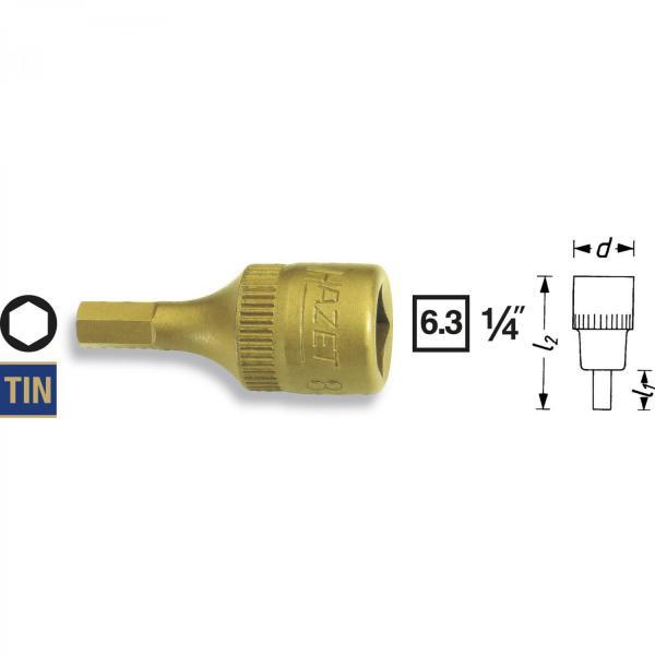 """Hazet 8501-4 1/4"""" Hexagon Screwdriver Socket"""