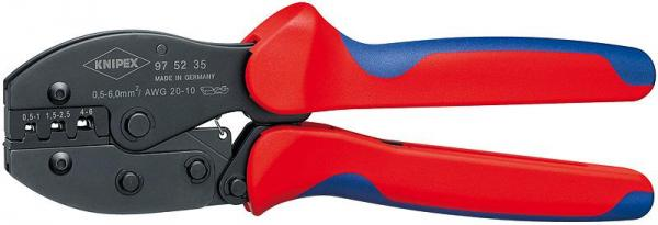 Knipex 975235 KNIPEX PreciForce® Crimping Pliers burnished with multi-component grips 220 mm