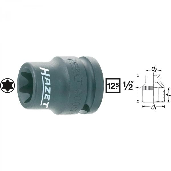 "Hazet 900S-E12 1/2"" drive 6-point TORX® impact socket"