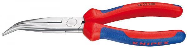 Knipex 2622200 Snipe Nose Side Cutting Pliers black atramentized 200 mm
