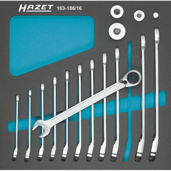 Hazet 163-186/16 Ratcheting Combination Wrench Set