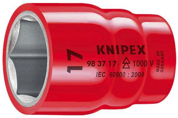 """Knipex 983716 Hexagon Socket for hexagonal screws with internal square 3/8"""""""