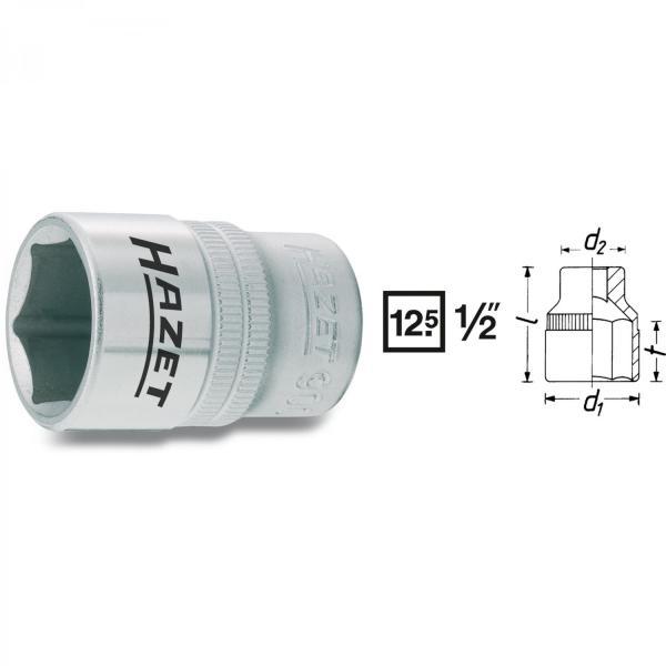 "Hazet 900 1/2"" drive 6-point sockets"