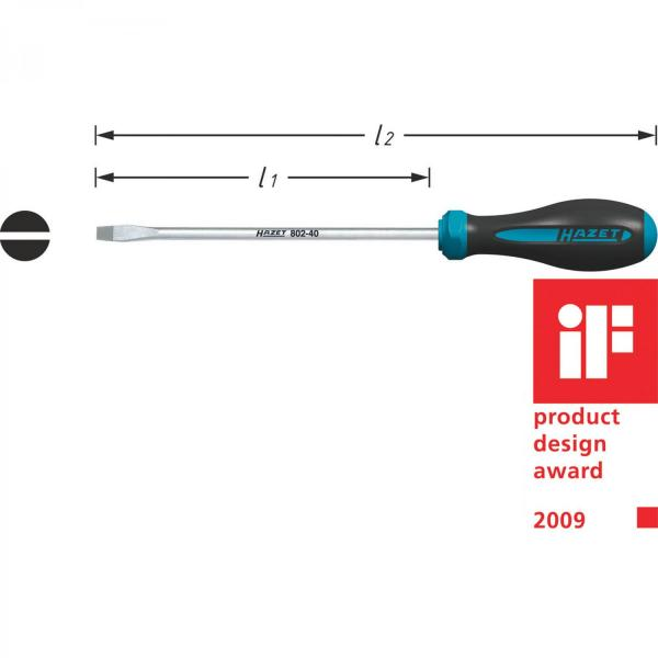 Hazet 802-40 HEXAnamic® Flatblade Screwdriver
