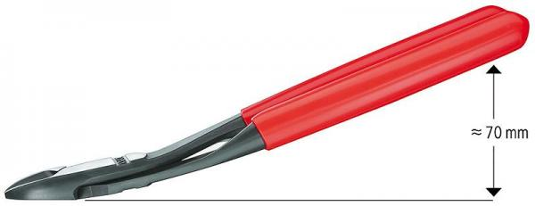 Knipex 7421180 High Leverage Diagonal Cutter chrome plated plastic coated 180 mm