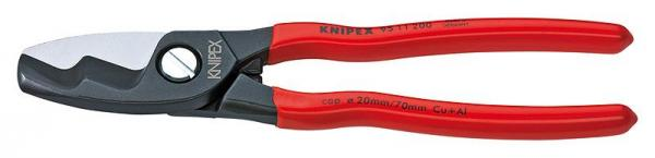 Knipex 9511200 Cable Shears with twin cutting edge plastic coated 200 mm
