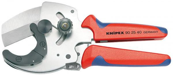 Knipex 902540 Pipe Cutter for composite and plastic pipes with multi-component grips 210 mm