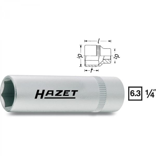 "Hazet 850Lg-10 1/4"" Deep Socket long style (6-Point)"