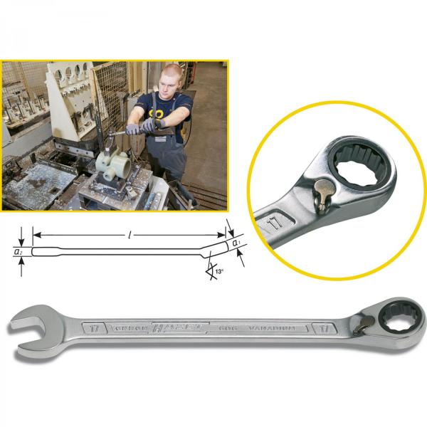 Hazet 606 ratcheting combination wrenches