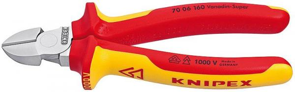 Knipex 7006160 Diagonal Cutter chrome plated 160 mm