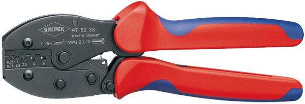Knipex 975238 KNIPEX PreciForce® Crimping Pliers burnished with multi-component grips 220 mm