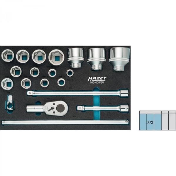 Hazet 163-406/20 Socket set