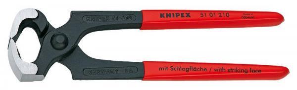 Knipex 5101210 Hammerhead Style Carpenters' Pincers black atramentized plastic coated 210 mm