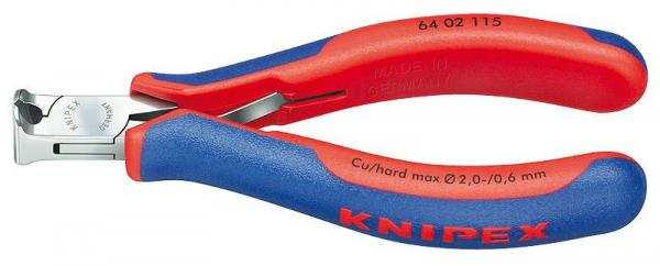 Knipex 6402115 Electronics End Cutting Nipper with multi-component grips 115 mm