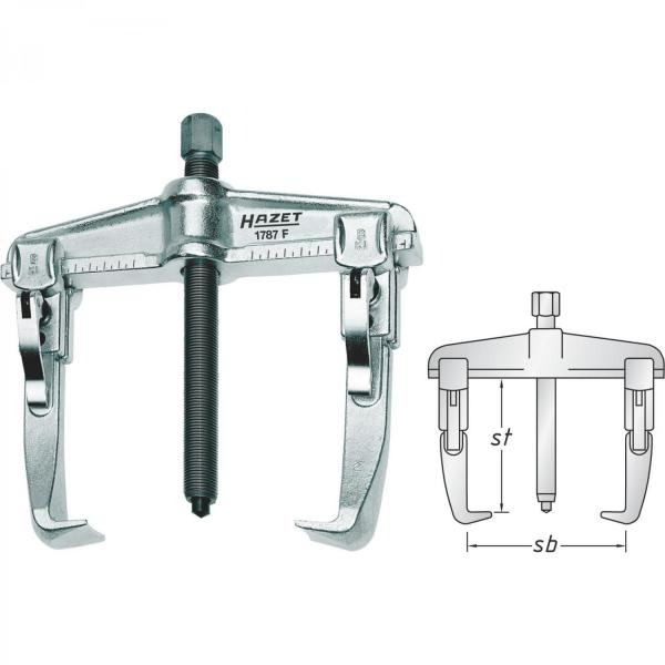 HAZET Quick-clamping puller, 2-arm 1787F-20
