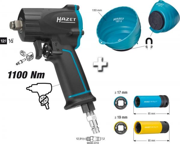 Hazet Impact Wrench 9012M/4 set