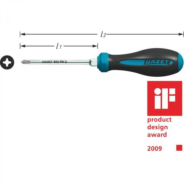 Hazet 802-PH HEXAnamic® Phillips Recess Screwdrivers